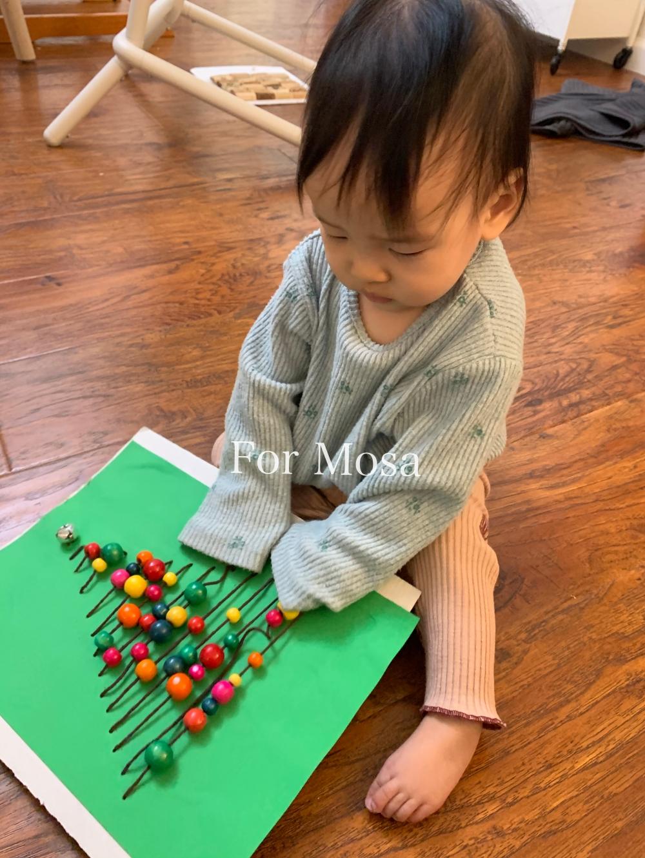 育兒|給嬰兒的聖誕倒數月曆 感官觸摸板 Sensory Board
